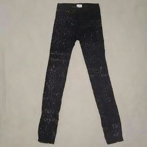 Poof! Pants - POOF BLACK LACE LEGGINGS-SIZE M/L-GREAT CONDITION